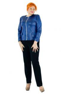 Klasyczne Granatowe Jesienne Spodnie