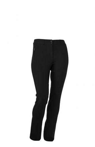 Elastyczne czarne spodnie ze streczem