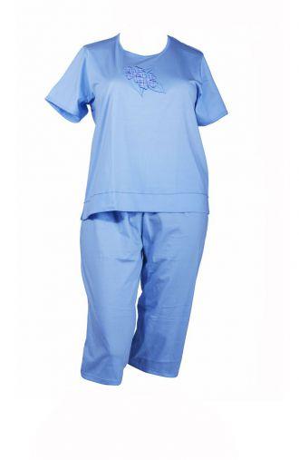 Bawełniana letnia błękitna piżama