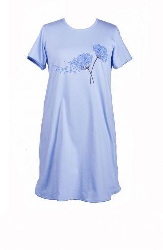 Bawełniana błękitna koszula nocna z dmuchawcami
