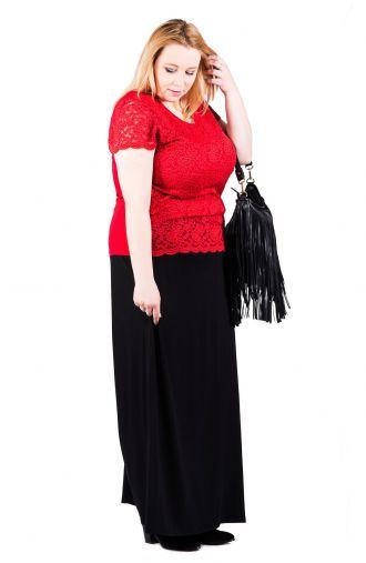 Czarna dzianinowa długa maxi spódnica