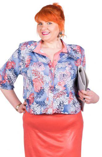 Bluzka koszulowa koronkowy wzór
