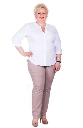 Bawełniane cienkie spodnie w kolorze cappuccino