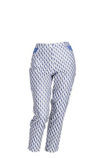 Letnie, bawełniane spodnie 7/8 wzór konik morski