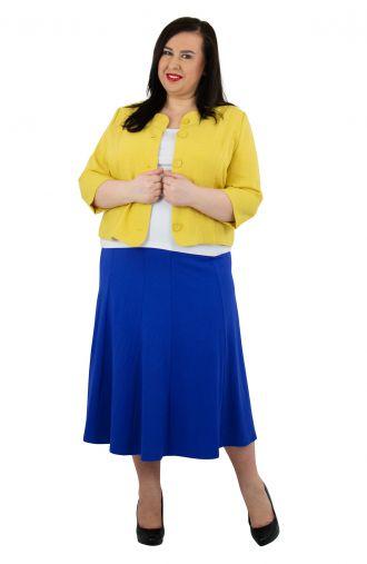 Modny żółty lniany żakiet
