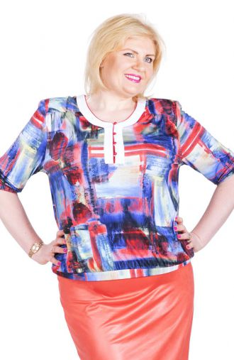 Elegancka bluzka abstrakcyjny obraz