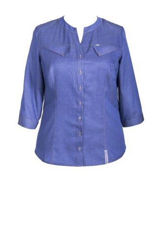 Bawełniana bluzka koszulowa imitacja jeansu