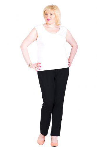 Wizytowe czarne spodnie w kant wzrost 158 cm