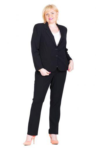 Wizytowe czarne spodnie w kant wzrost 164 cm