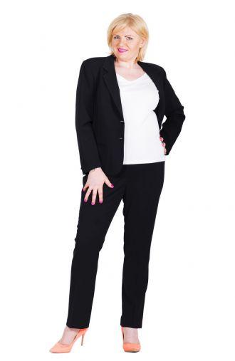 Wizytowe czarne spodnie w kant wzrost 170 cm