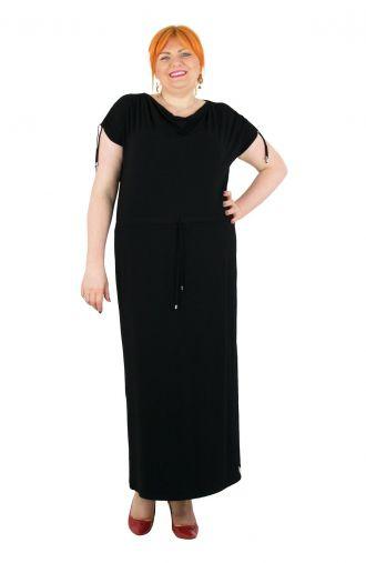 Dzianinowa sukienka w kolorze czarnym