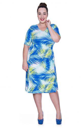 Sukienka z wzorem w liście palmowe