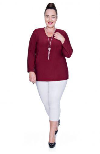 Bordowa elegancka bluzka