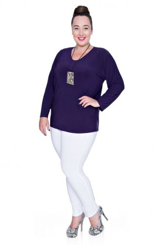 Fioletowa elegancka bluzka