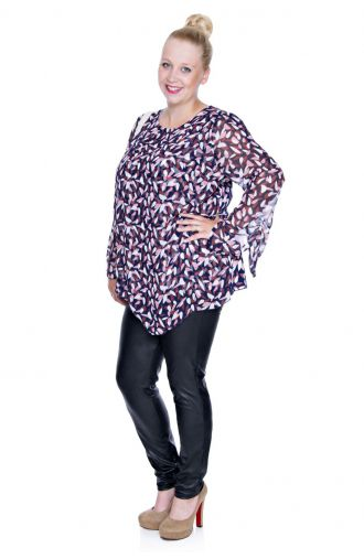 Elegancka wielokolorowa bluzka