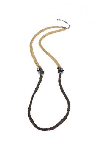 Długi brązowo-złoty łańcuch