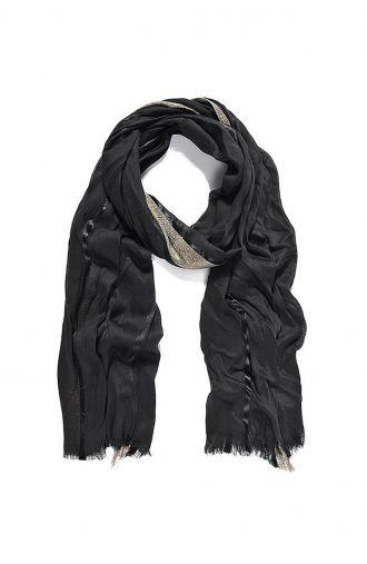 Elegancki szal w czarnym kolorze