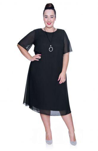 Zwiewna czarna sukienka