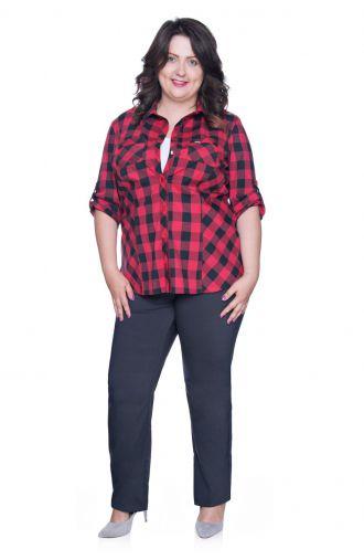 Bluzka koszulowa czerwona krata