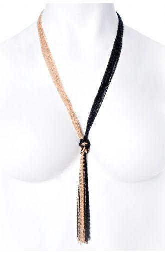 Złoto-czarny naszyjnik węzeł
