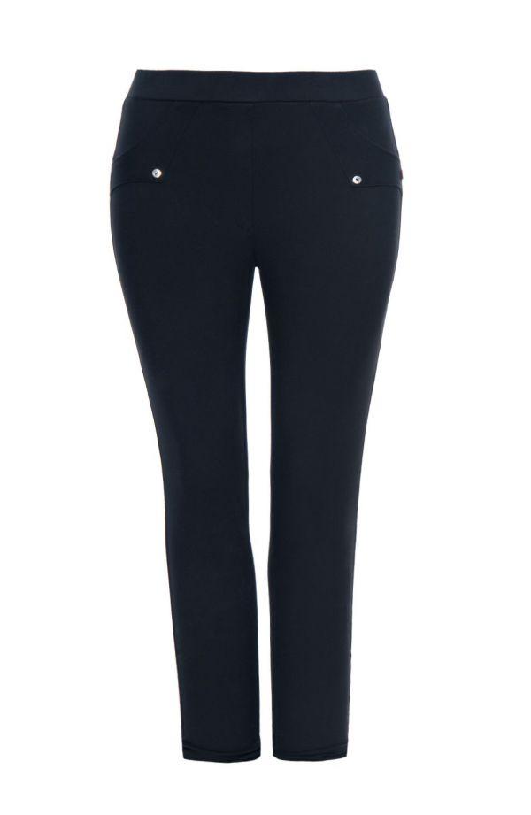 Wizytowe grubsze czarne spodnie