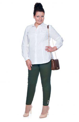Klasyczna biała bluzka koszulowa