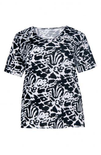 Czarno-biała bluzka we wzór
