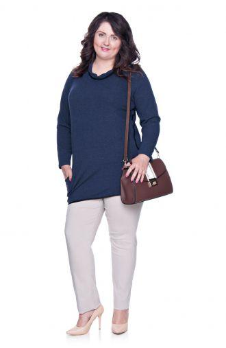 Bawełniane cienkie spodnie w beżowym kolorze
