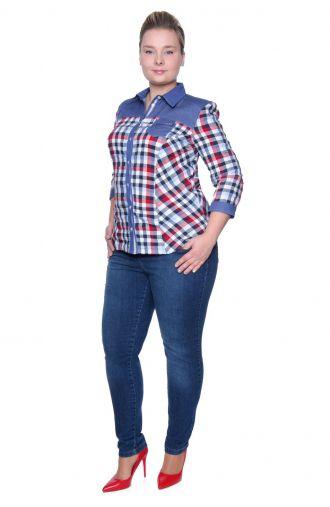 Zwężane jeansy z przeszyciami