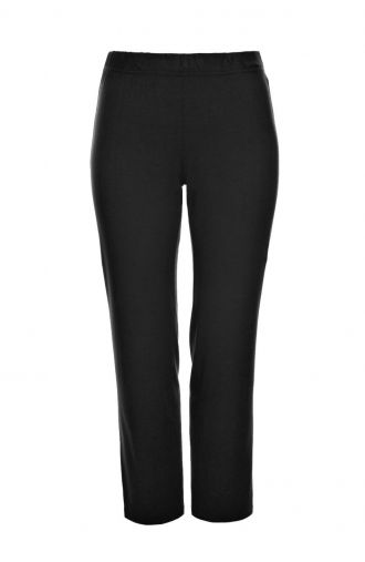 Klasyczne cienkie czarne spodnie