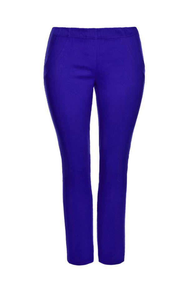 Chabrowe spodnie zwężane nogawki