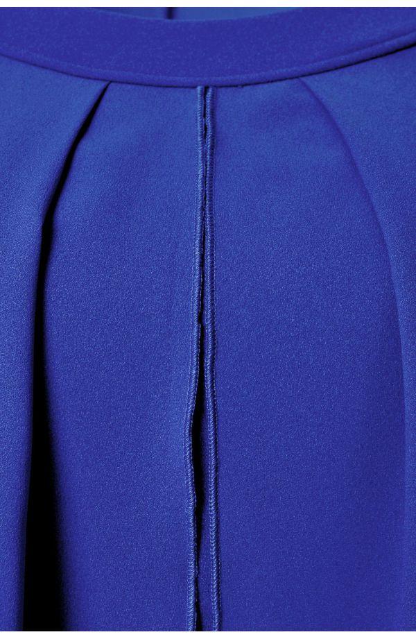 Chabrowa sukienka z imitacją narzutki