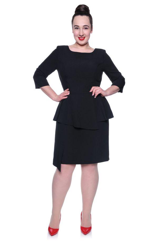 Czarna sukienka baskinka