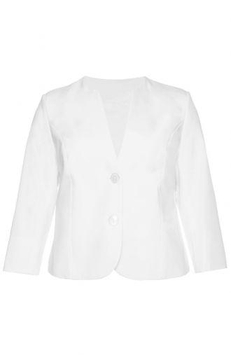 Modny biały wiosenny żakiet