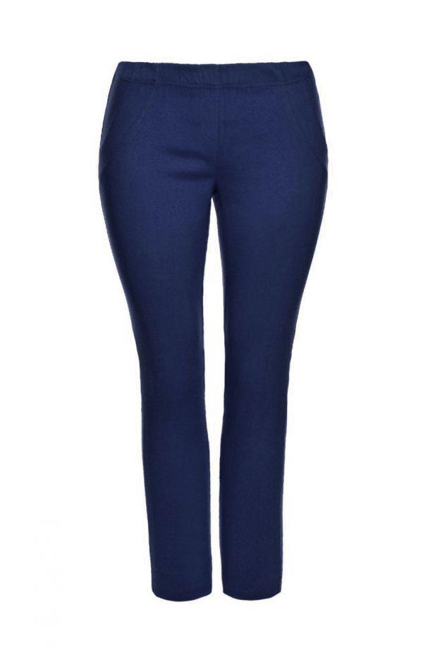 Granatowe długie spodnie