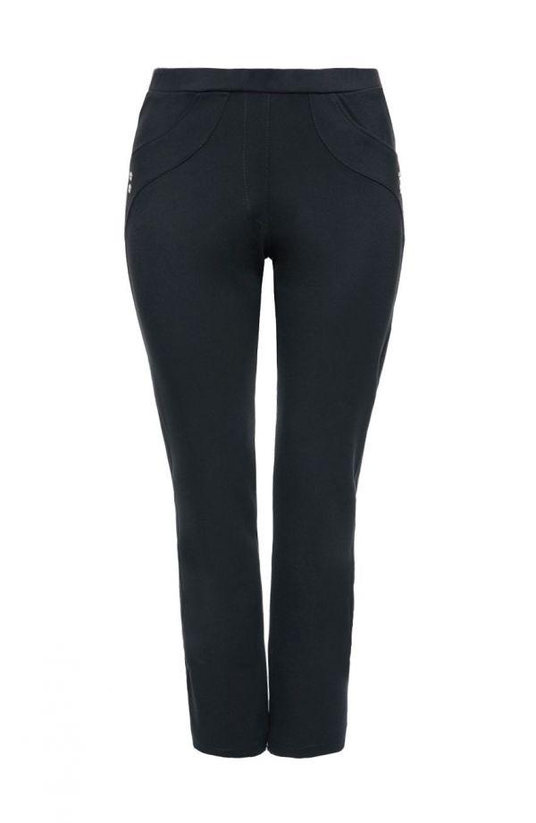 Klasyczne czarne spodnie z prostą nogawką