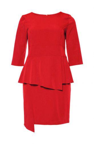 Czerwona sukienka baskinka