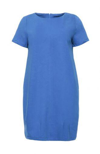 Niebieska sukienka tulipan z krótkim rękawem