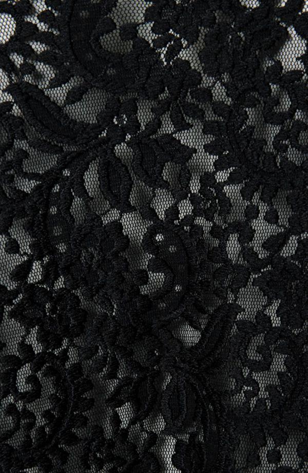 Czarna koronkowa tunika z trenem