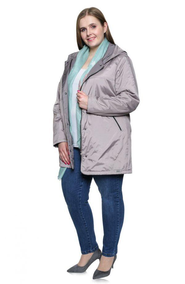 Dłuższa przejściowa kurtka w kolorze beżu
