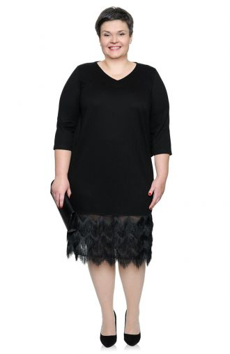 Czarna sukienka w stylu retro