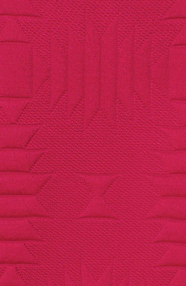 Fakturowany lekki żakiet w kolorze malinowym