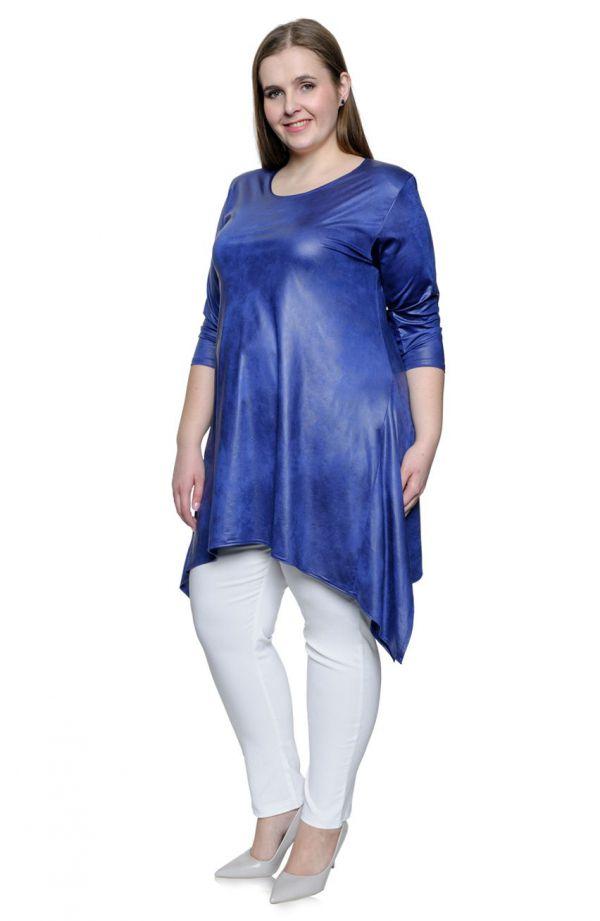 Modna skórkowa kobaltowa tunika