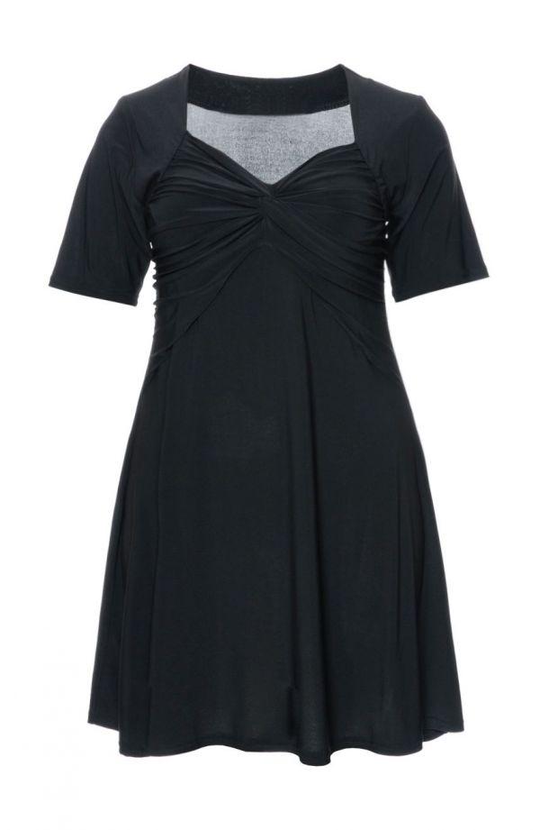 Wieczorowa tunika w kolorze klasycznej czerni