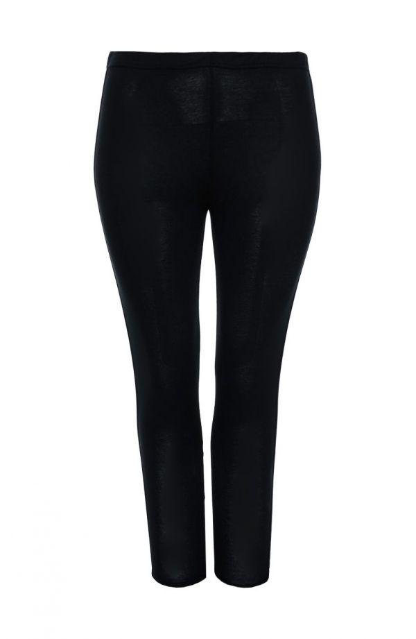Długie legginsy z lampasem w kolorze czerni