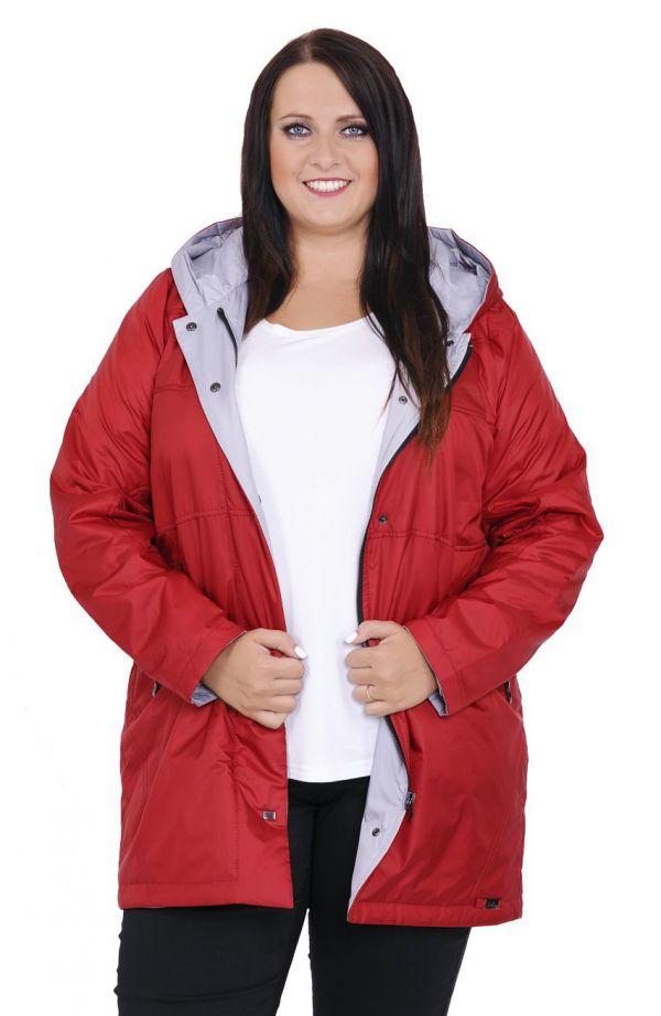 Przejściowa kurtka w czerwonym kolorze