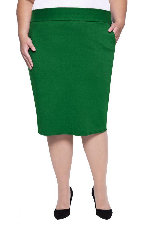 Miękka dresowa spódnica w kolorze zieleni
