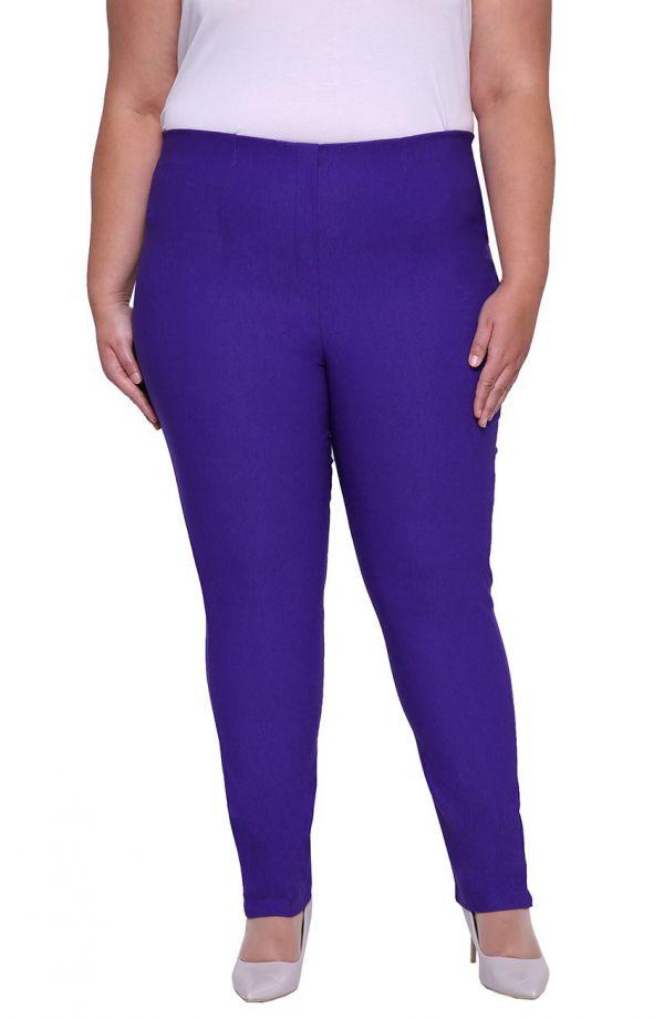 Lekko zwężane spodnie w kolorze chabrowym