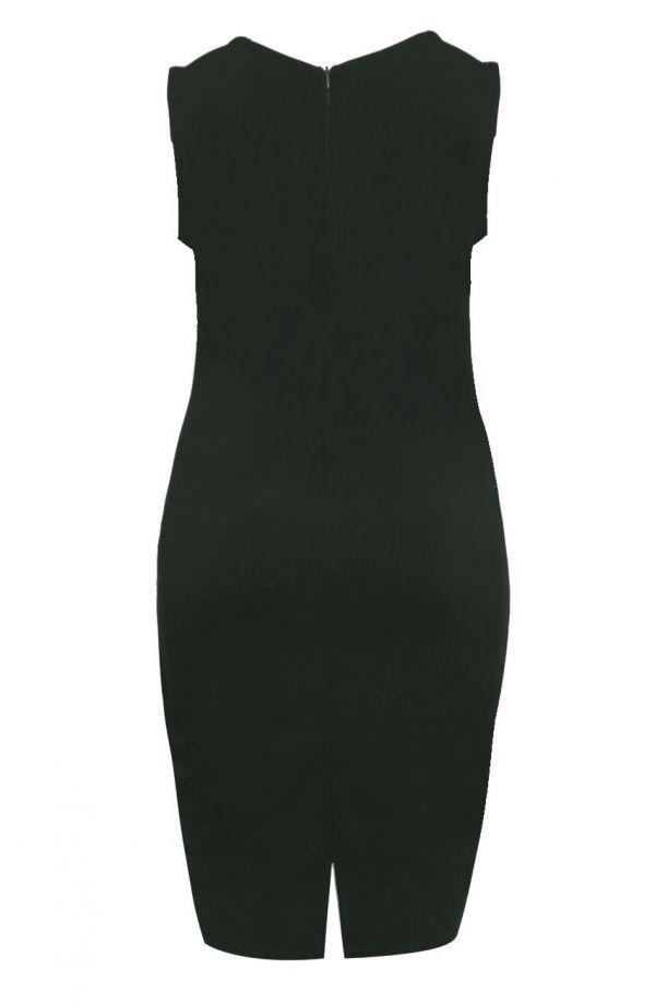 Sukienka w odcieniu butelkowej zieleni