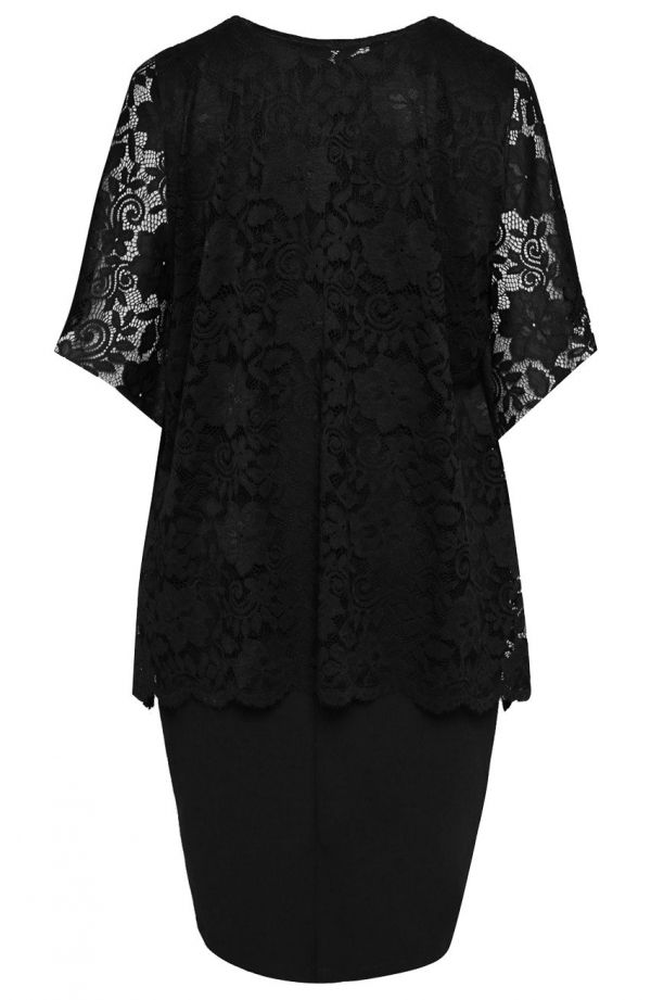 Sukienka z narzutką w kolorze czerni